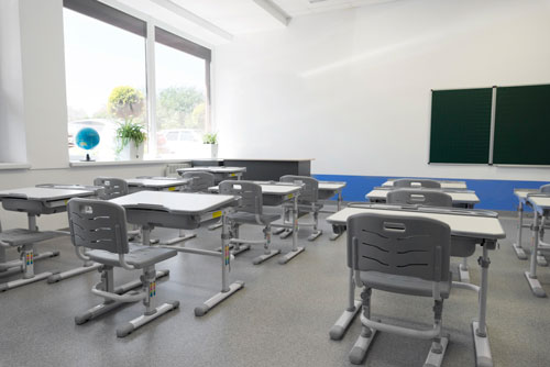 Epoxy flooring for education